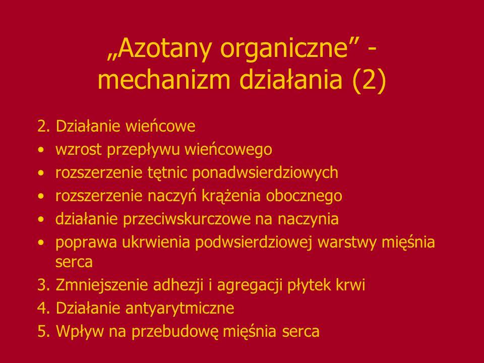 """""""Azotany organiczne - mechanizm działania (2)"""