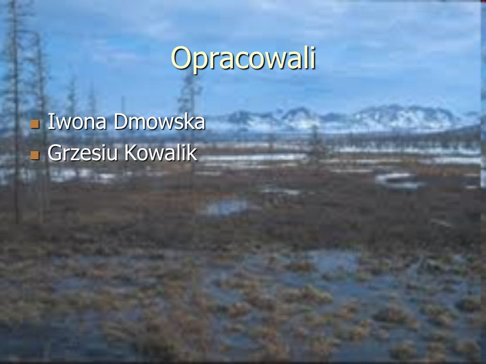 Opracowali Iwona Dmowska Grzesiu Kowalik