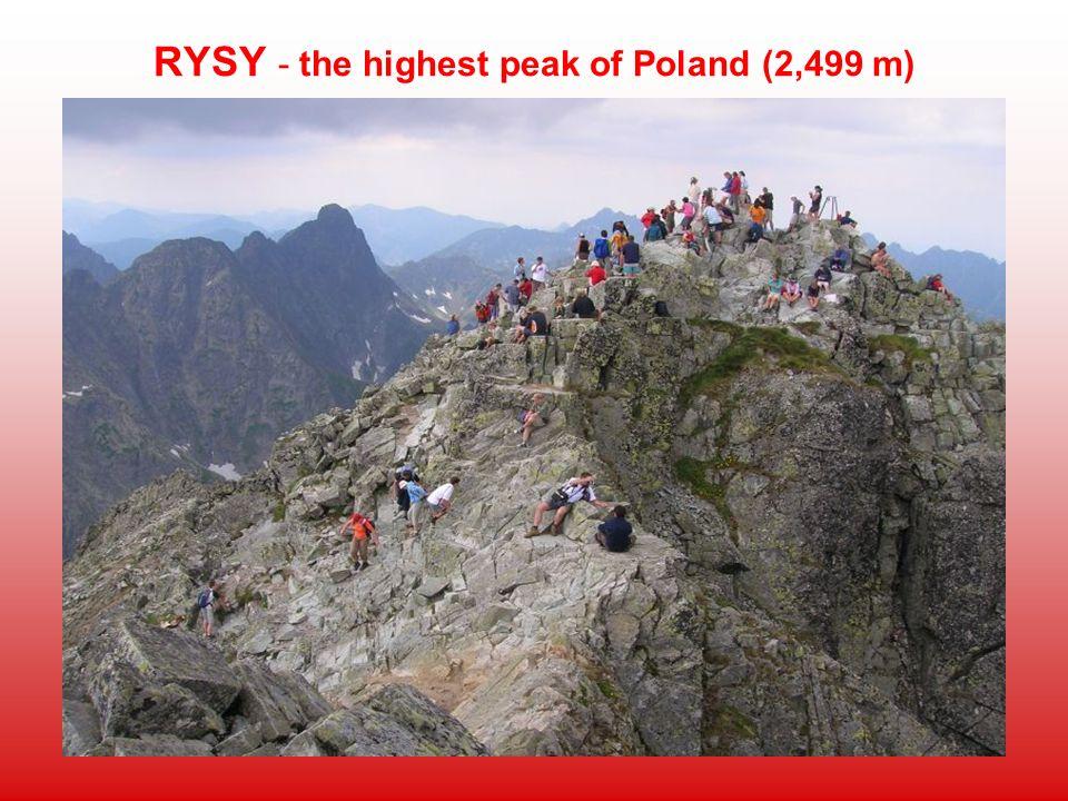 RYSY - the highest peak of Poland (2,499 m)