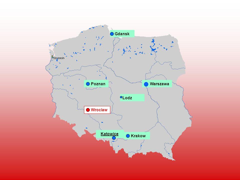 Gdansk Poznan Warszawa Lodz Wroclaw Katowice Krakow
