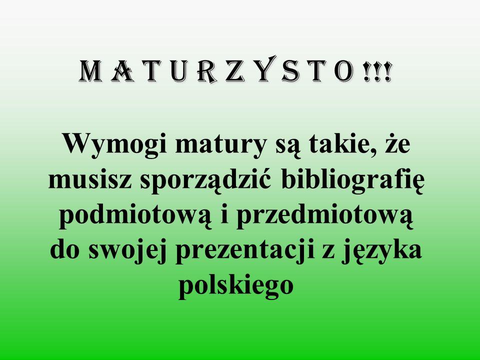 M A T U R Z Y S T O !!.
