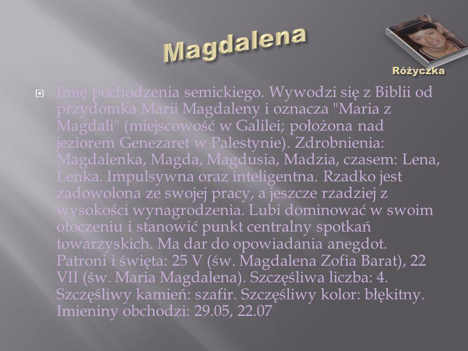 Magdalena Różyczka.