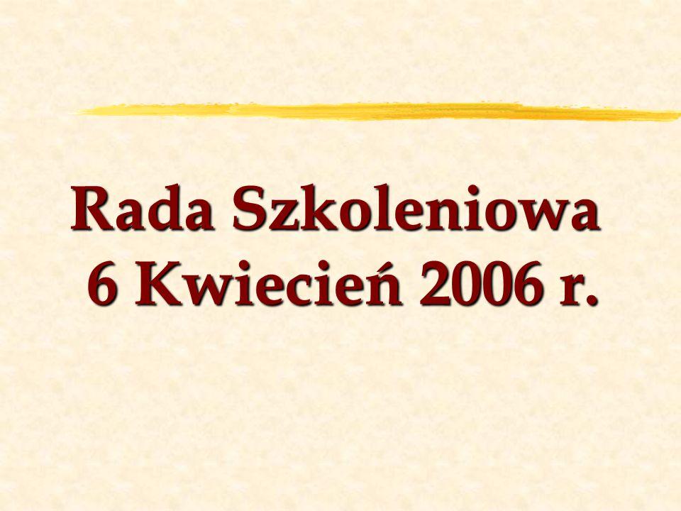 Rada Szkoleniowa 6 Kwiecień 2006 r.