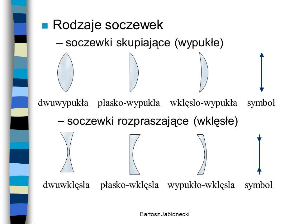 Rodzaje soczewek soczewki skupiające (wypukłe)
