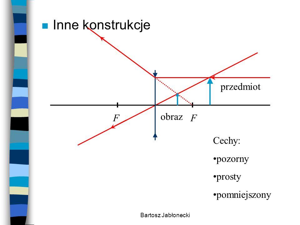 Inne konstrukcje przedmiot obraz F Cechy: pozorny prosty pomniejszony