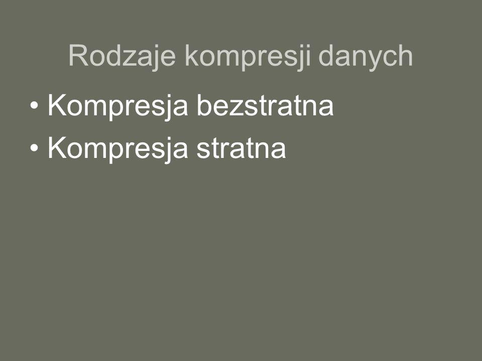 Rodzaje kompresji danych