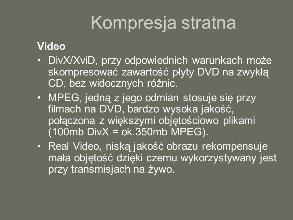 Kompresja stratna Video