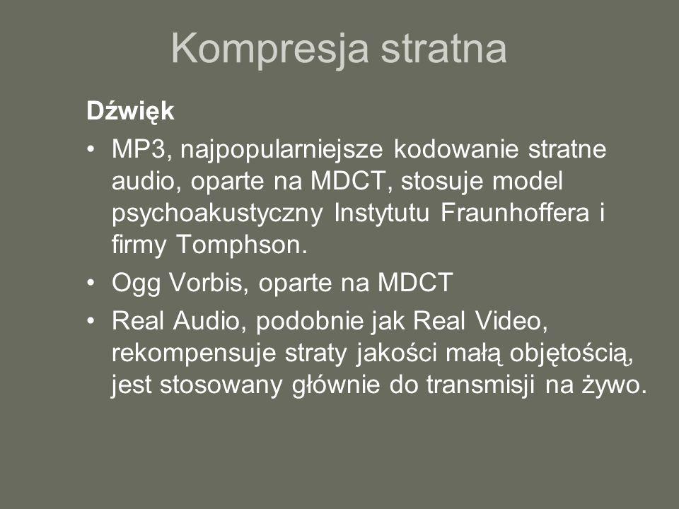 Kompresja stratna Dźwięk