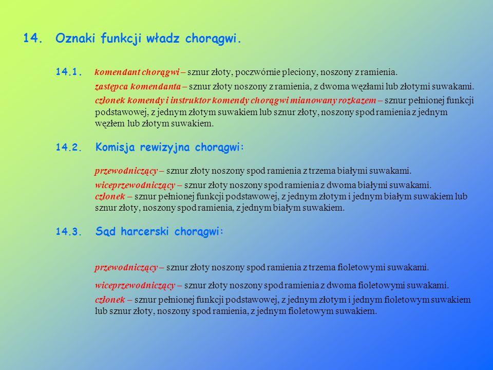 Oznaki funkcji władz chorągwi.