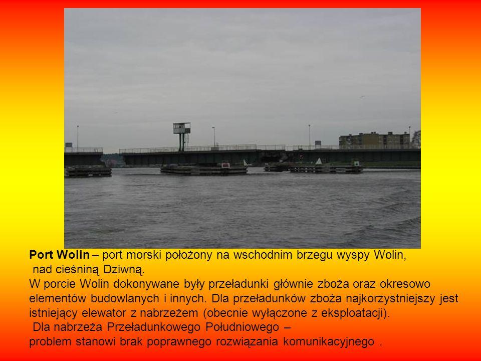 Port Wolin – port morski położony na wschodnim brzegu wyspy Wolin,