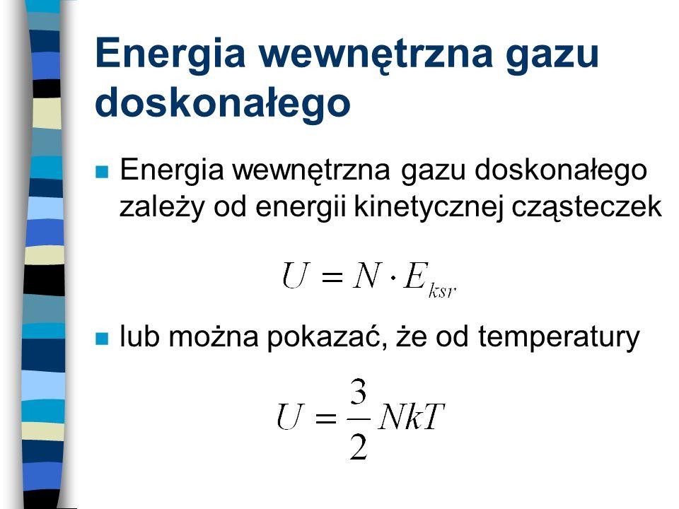Energia wewnętrzna gazu doskonałego