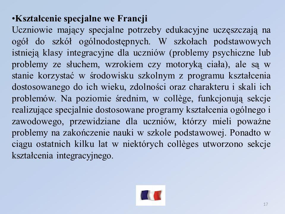 Kształcenie specjalne we Francji