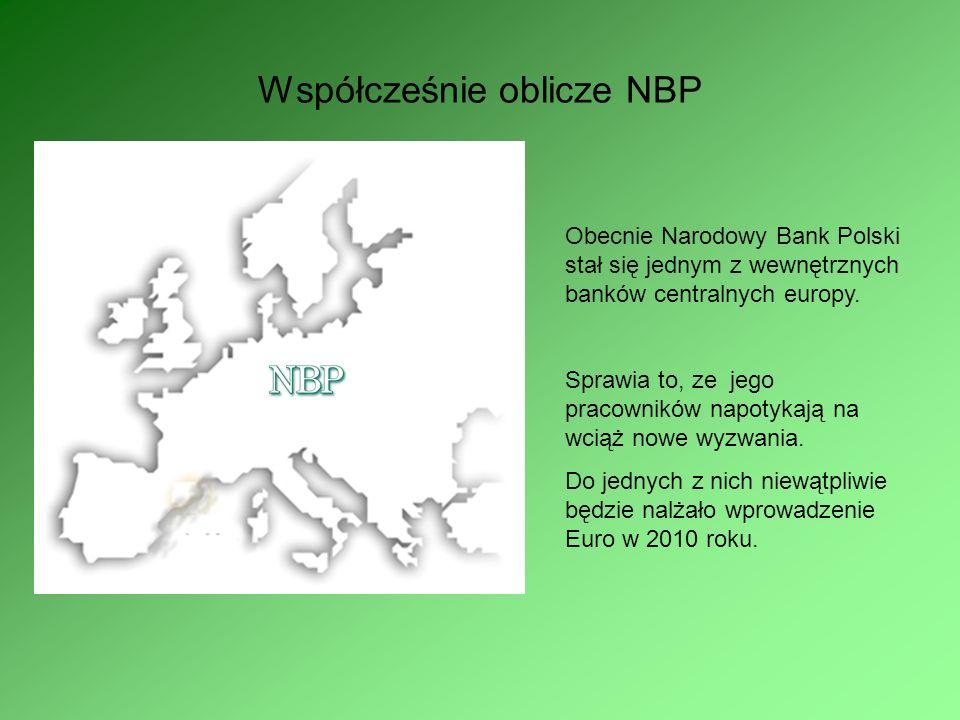 Współcześnie oblicze NBP