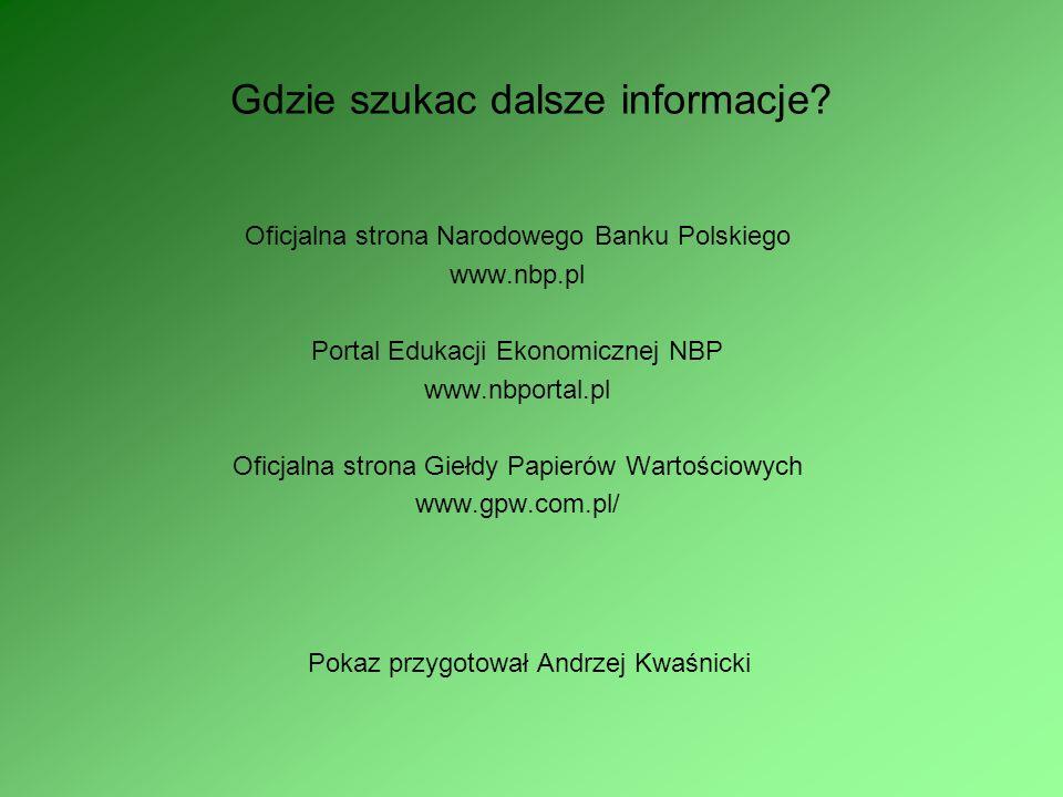 Gdzie szukac dalsze informacje