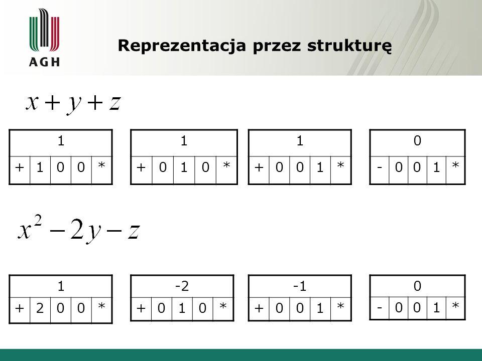 Reprezentacja przez strukturę