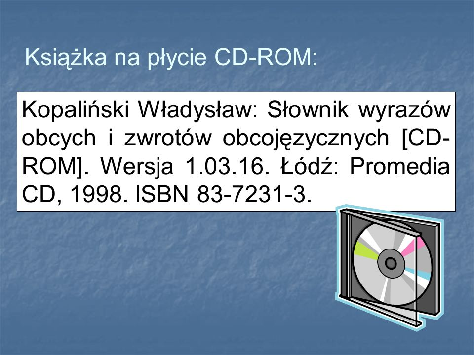 Książka na płycie CD-ROM: