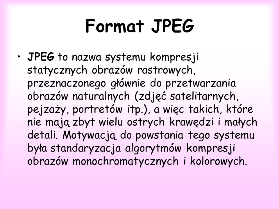 Format JPEG