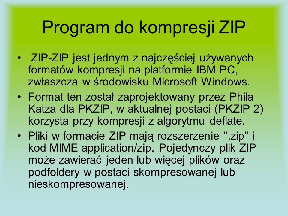 Program do kompresji ZIP