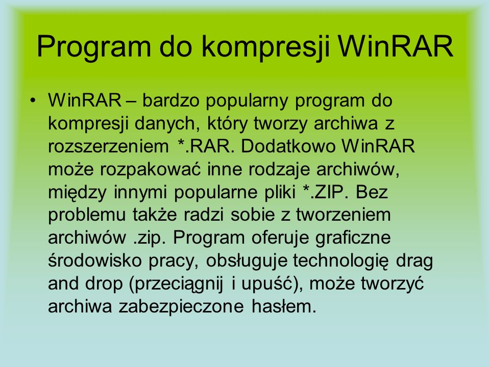 Program do kompresji WinRAR
