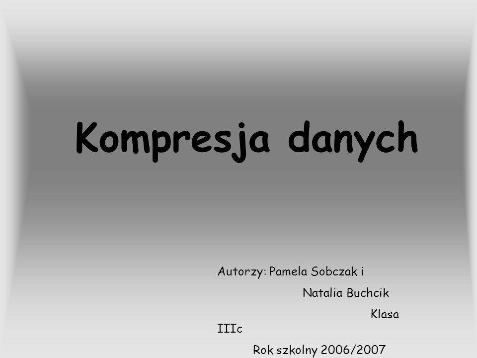 Kompresja danych Autorzy: Pamela Sobczak i Natalia Buchcik Klasa IIIc