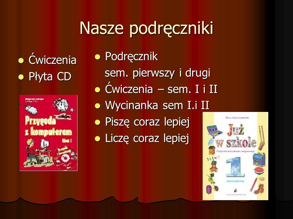 Nasze podręczniki Podręcznik Ćwiczenia sem. pierwszy i drugi Płyta CD
