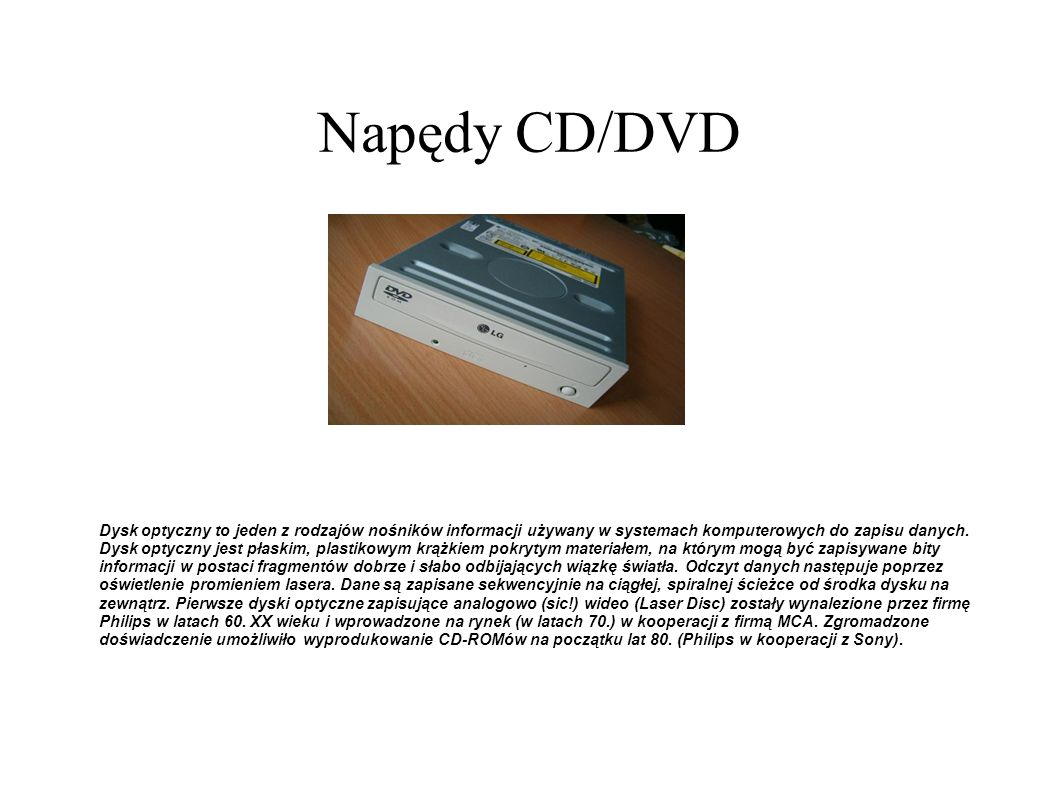 Napędy CD/DVD