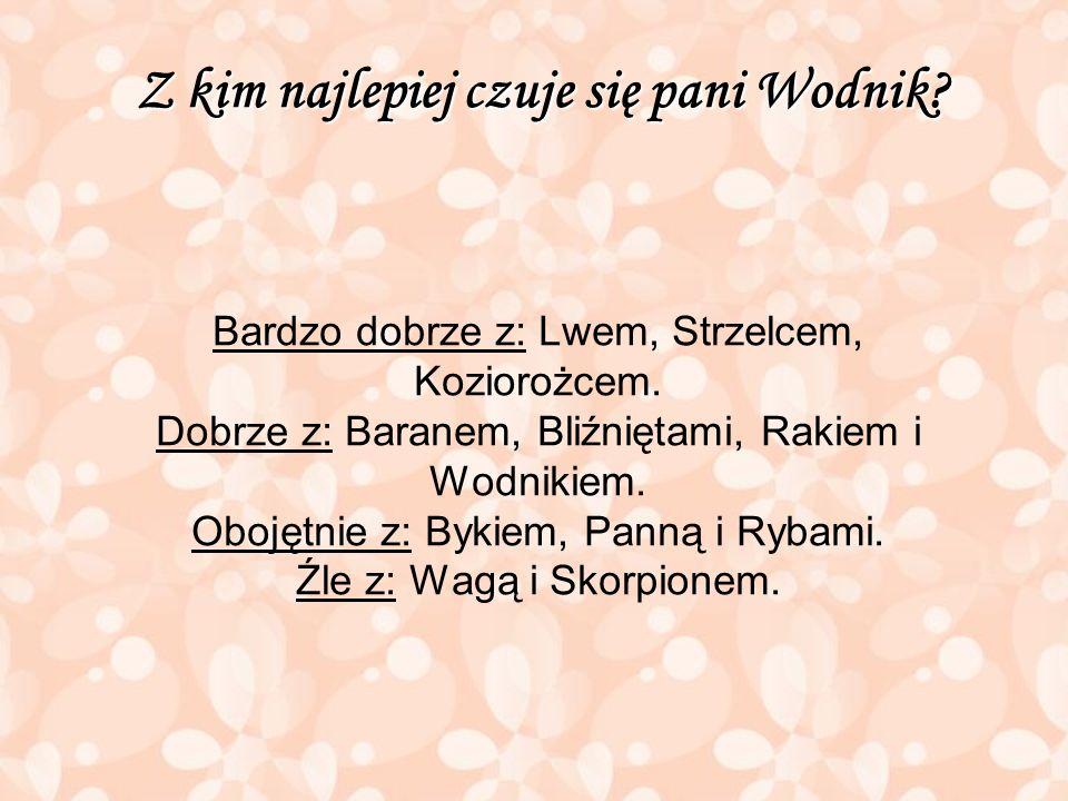 Z kim najlepiej czuje się pani Wodnik