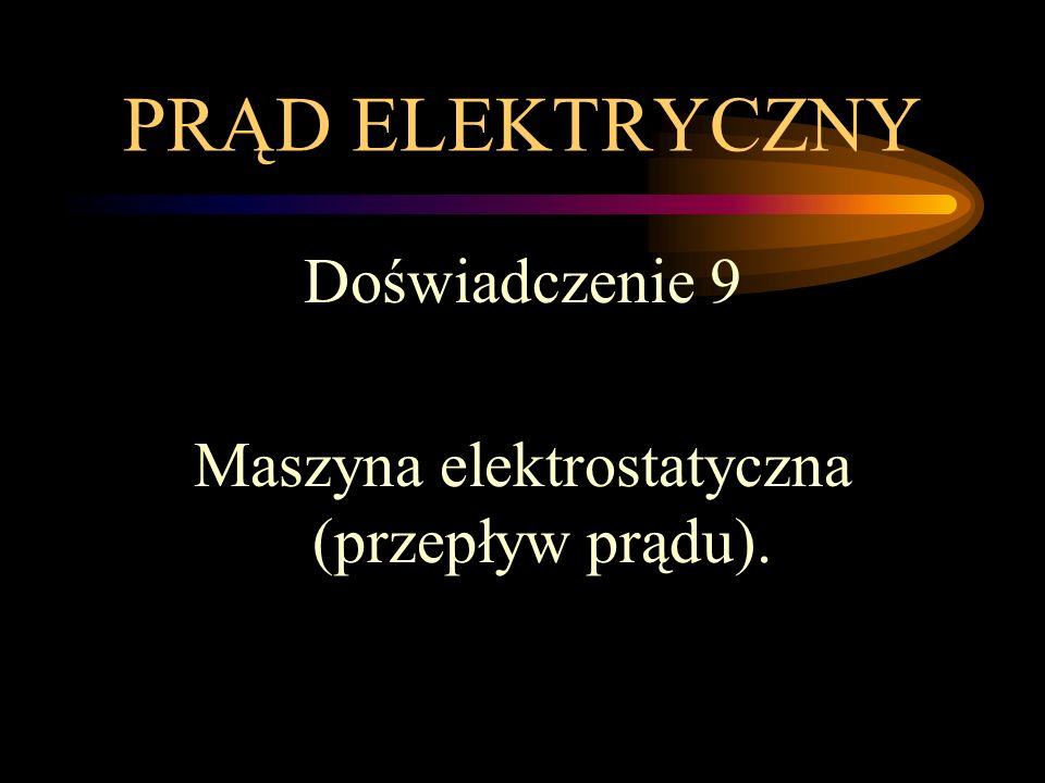 Maszyna elektrostatyczna (przepływ prądu).