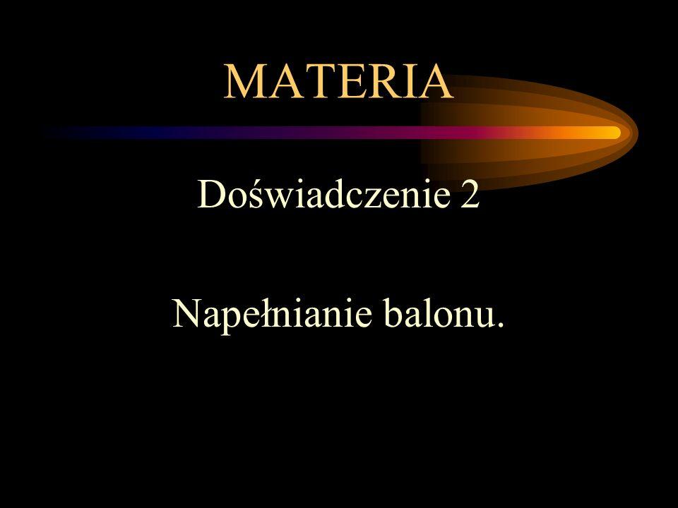 MATERIA Doświadczenie 2 Napełnianie balonu.