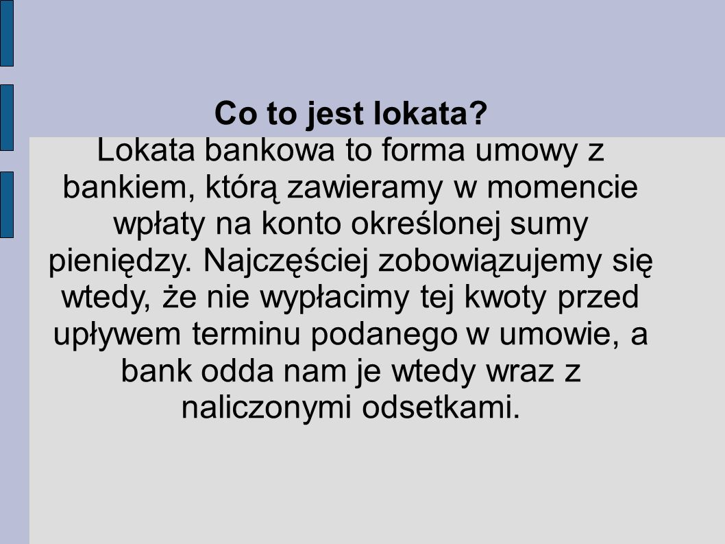Co to jest lokata