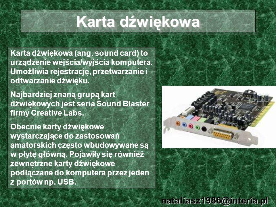 Karta dźwiękowa nataliasz1986@interia.pl