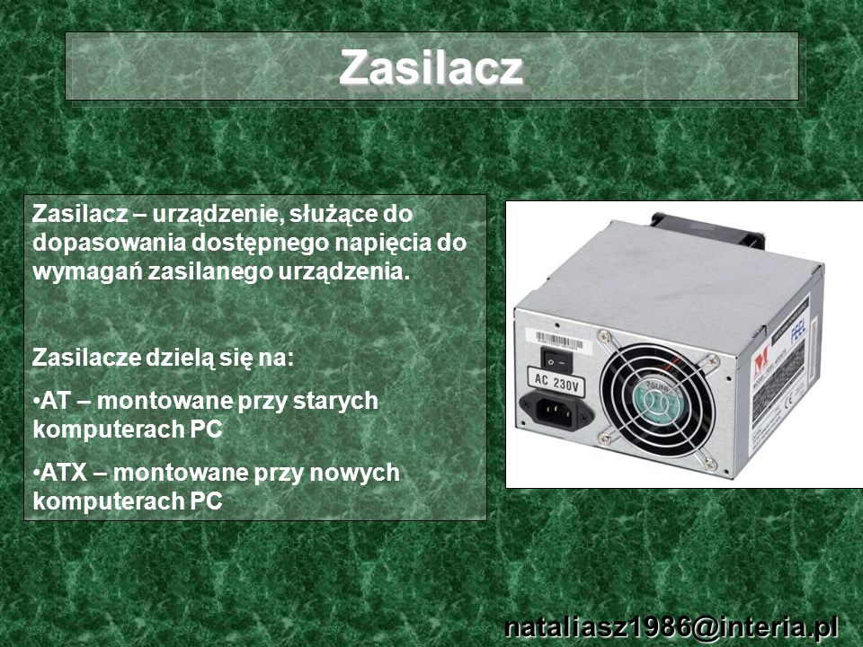 Zasilacz nataliasz1986@interia.pl