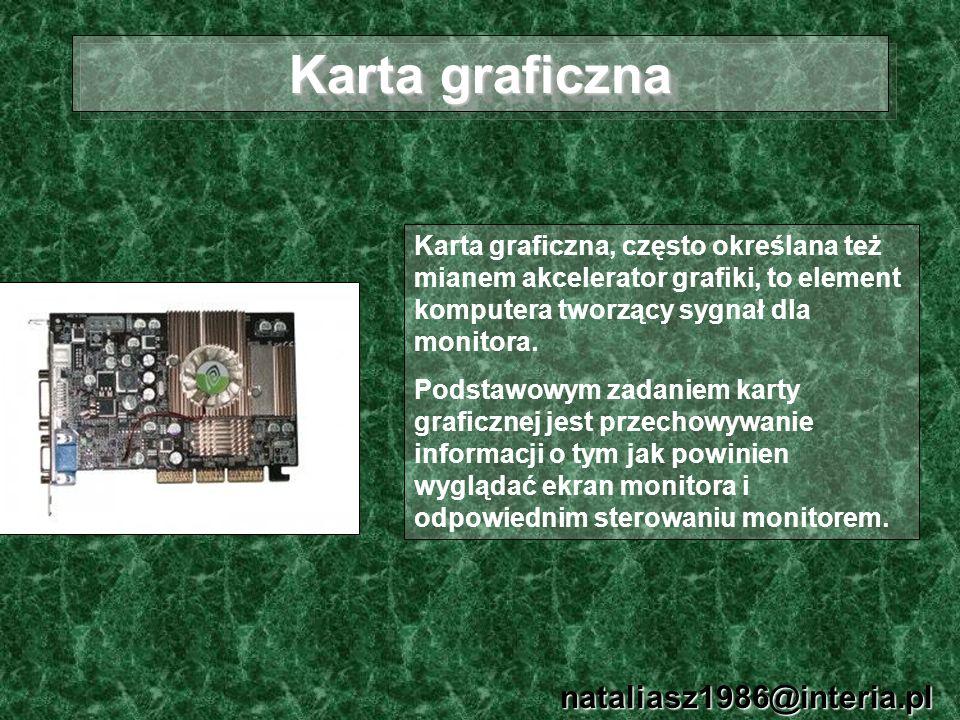 Karta graficzna nataliasz1986@interia.pl