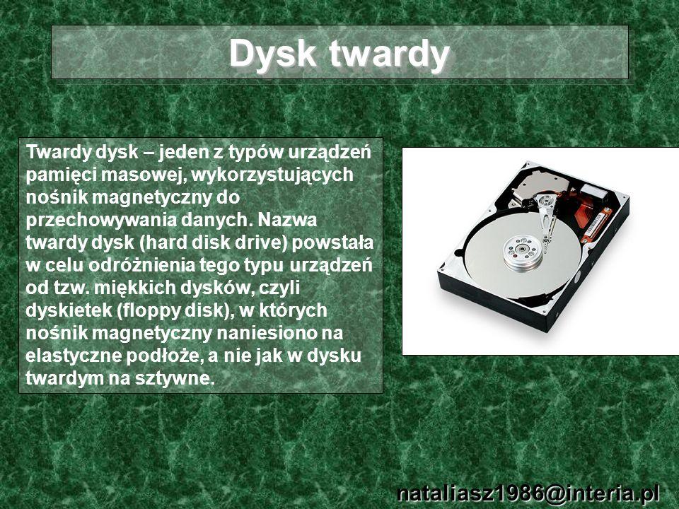Dysk twardy nataliasz1986@interia.pl