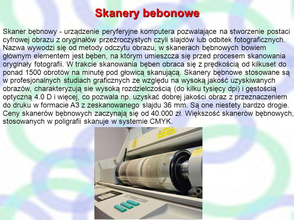 Gęstość optyczna Skanery bebonowe
