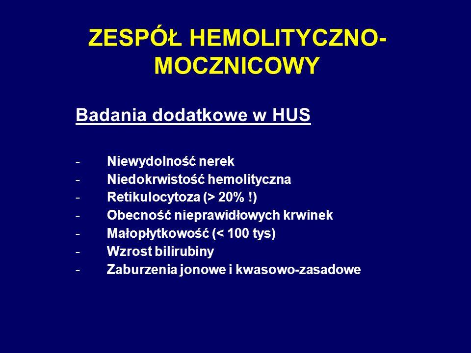 ZESPÓŁ HEMOLITYCZNO-MOCZNICOWY