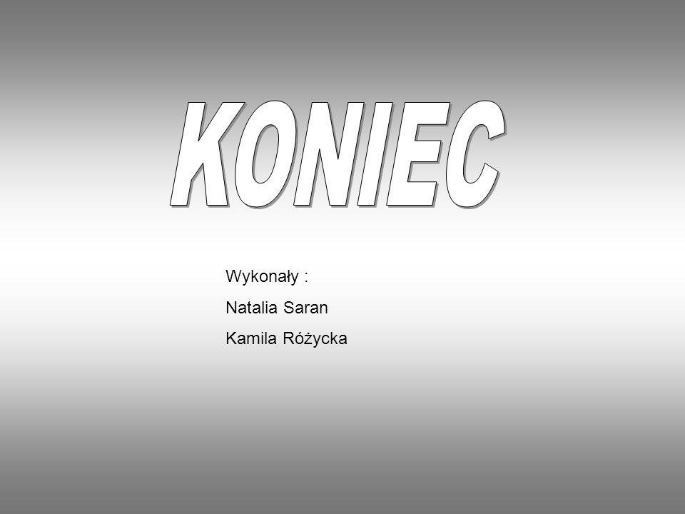 KONIEC Wykonały : Natalia Saran Kamila Różycka