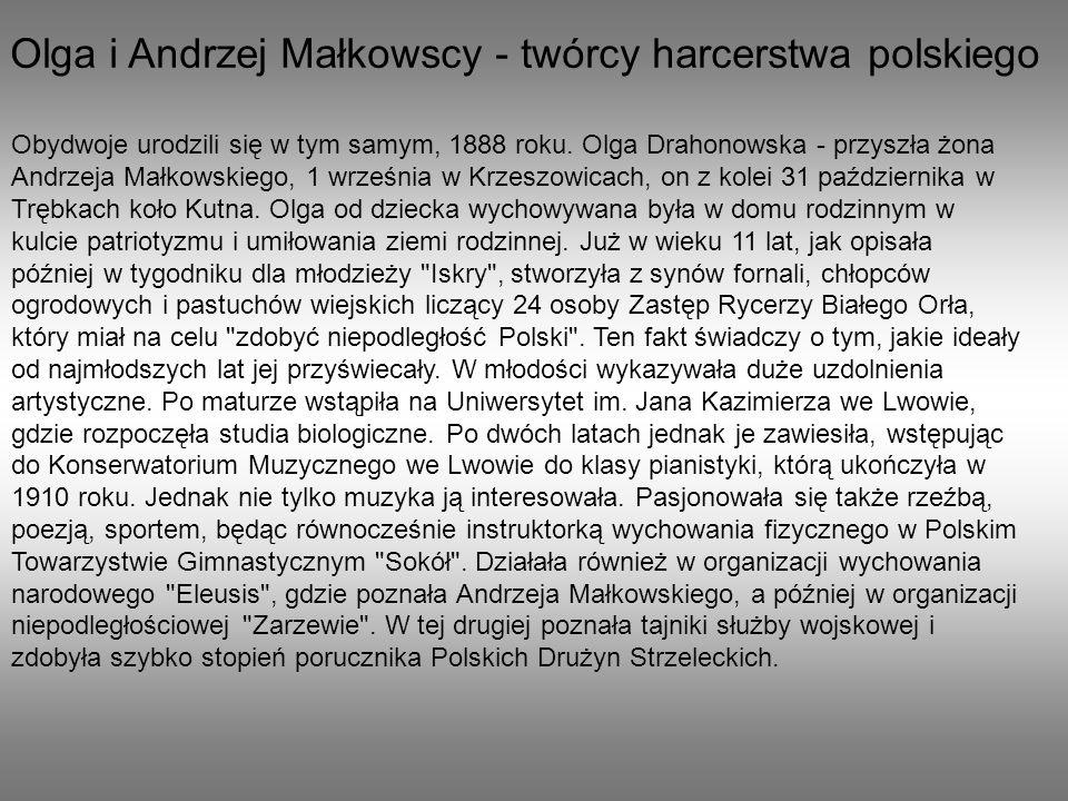 Olga i Andrzej Małkowscy - twórcy harcerstwa polskiego