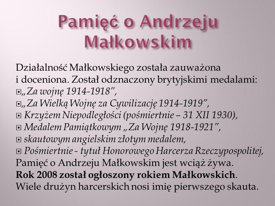 Pamięć o Andrzeju Małkowskim