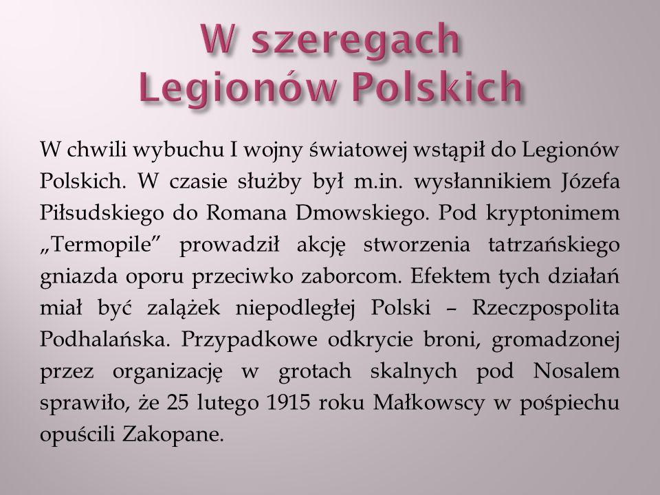 W szeregach Legionów Polskich