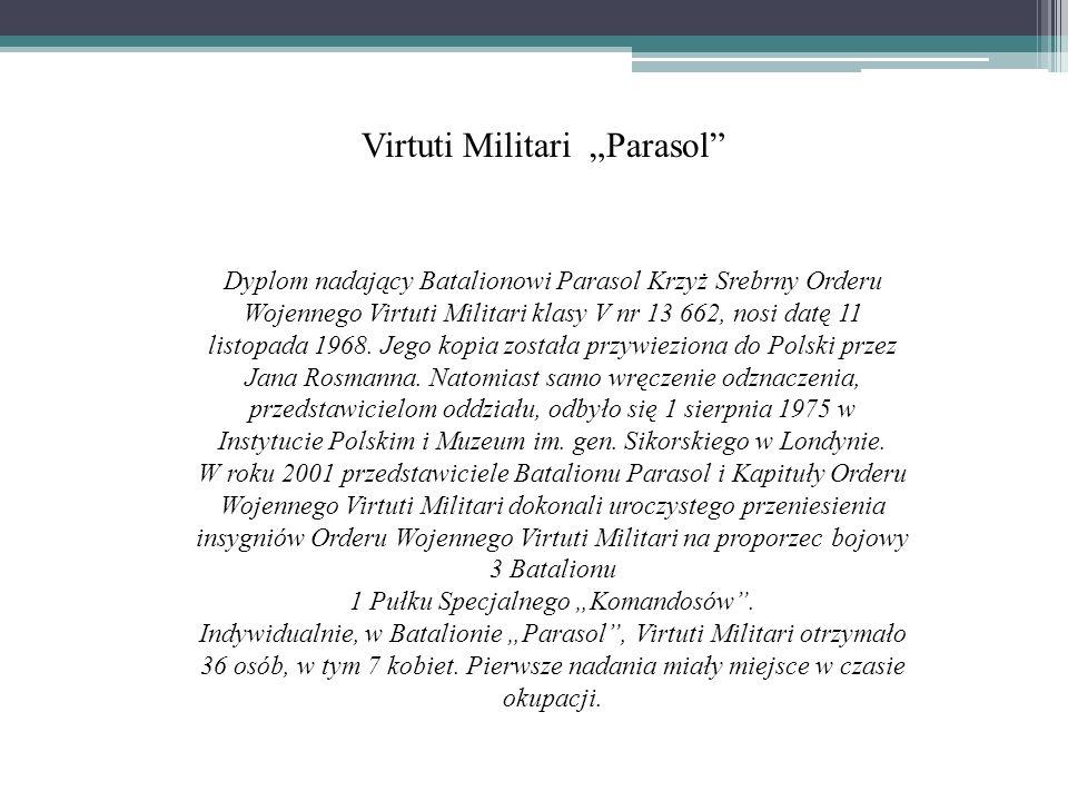 """Virtuti Militari """"Parasol"""