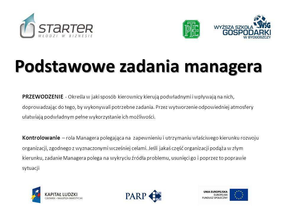 Podstawowe zadania managera