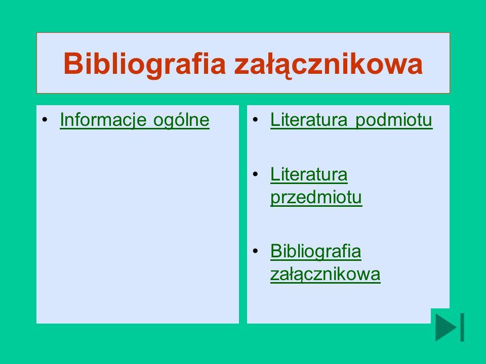 Bibliografia załącznikowa