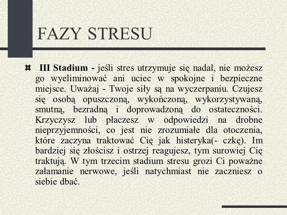 FAZY STRESU