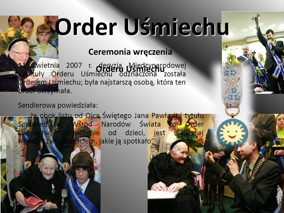 Order Uśmiechu Ceremonia wręczenia Orderu Uśmiechu