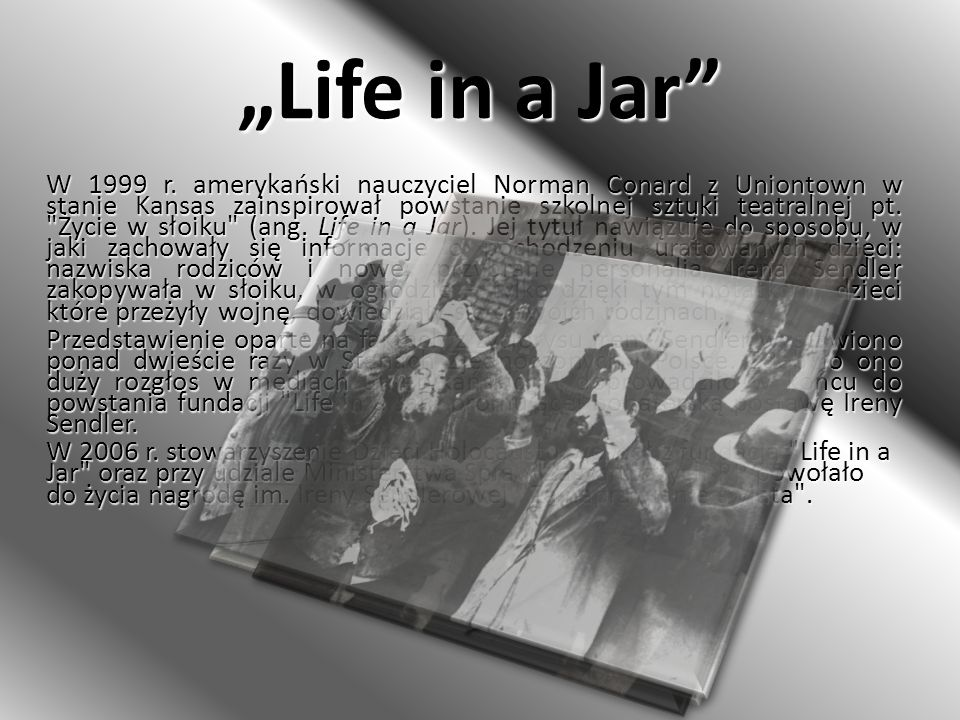 """Life in a Jar"