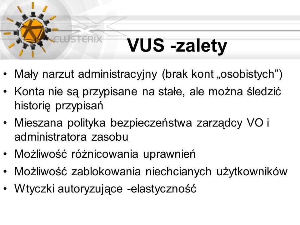"""VUS -zalety Mały narzut administracyjny (brak kont """"osobistych )"""