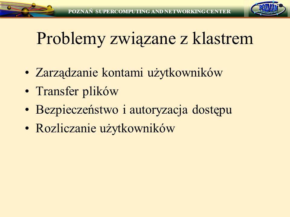 Problemy związane z klastrem