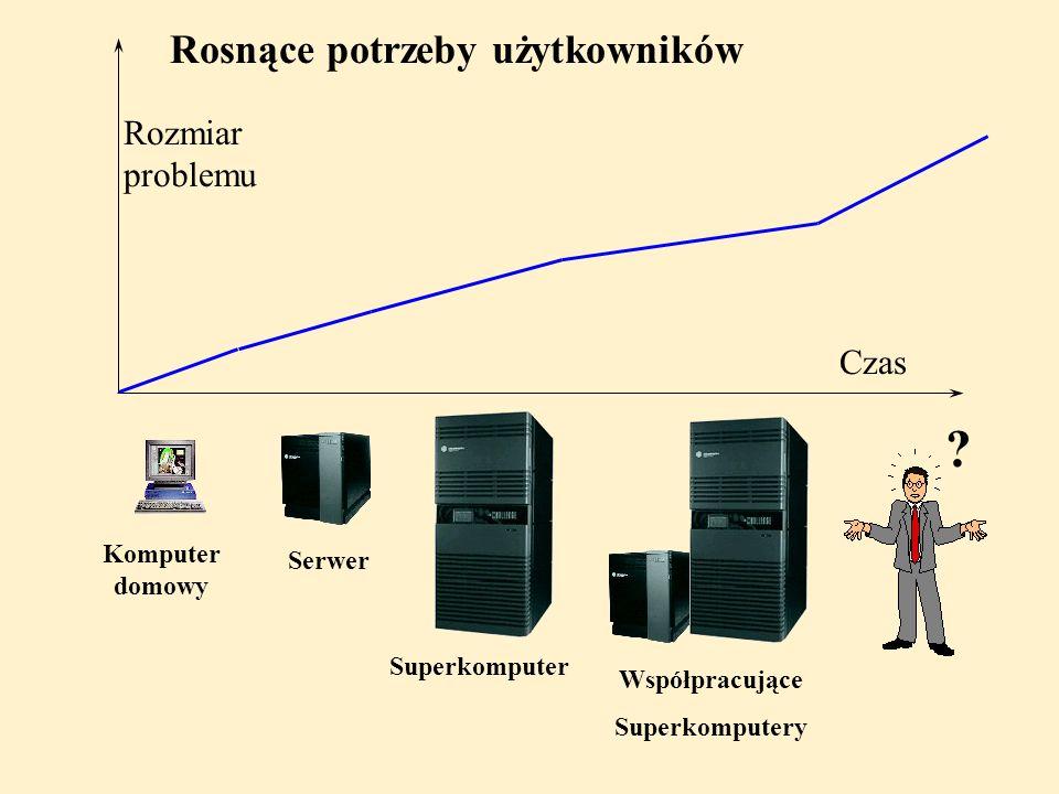 Rosnące potrzeby użytkowników Rozmiar problemu Czas Komputer domowy