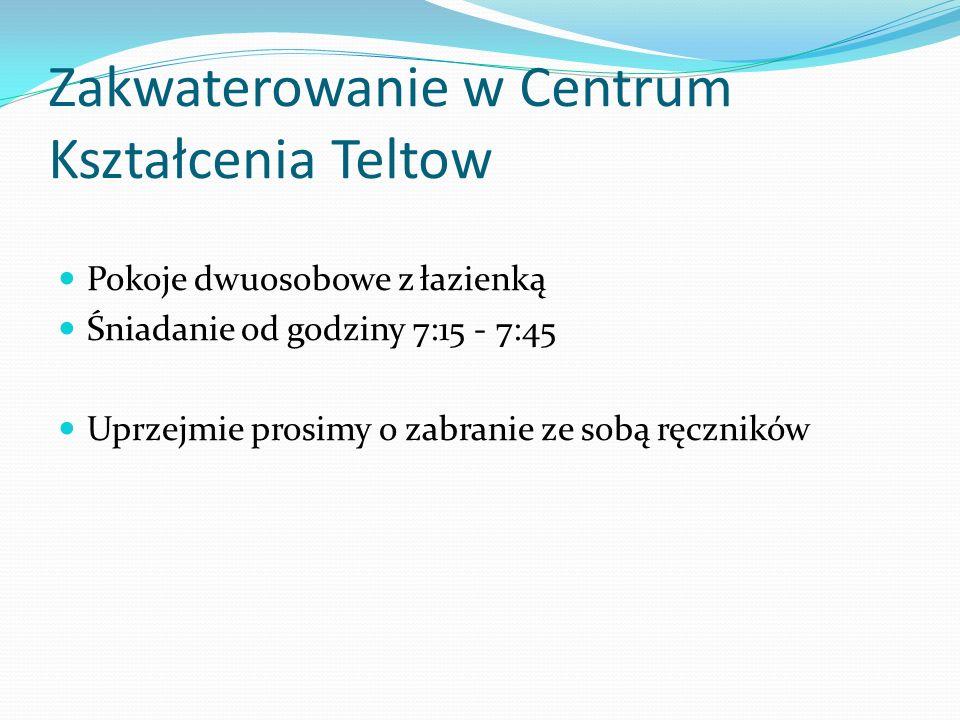 Zakwaterowanie w Centrum Kształcenia Teltow